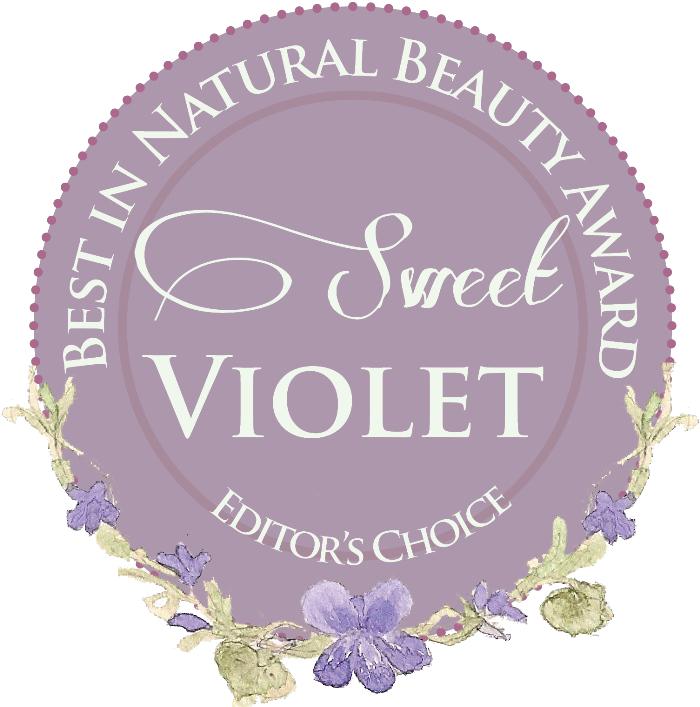 Sweet Violet Natural Beauty Award Badge 2014
