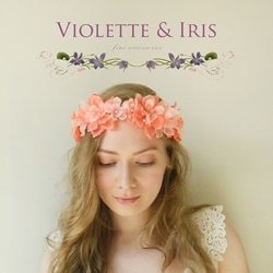 Violette & Iris hair adornments
