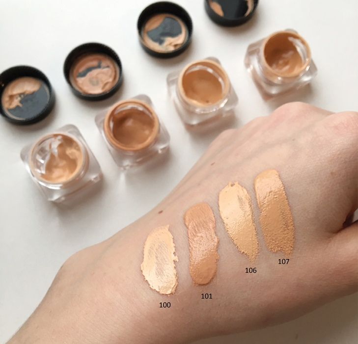 nu evolution cosmetics complete coverage foundation swatches