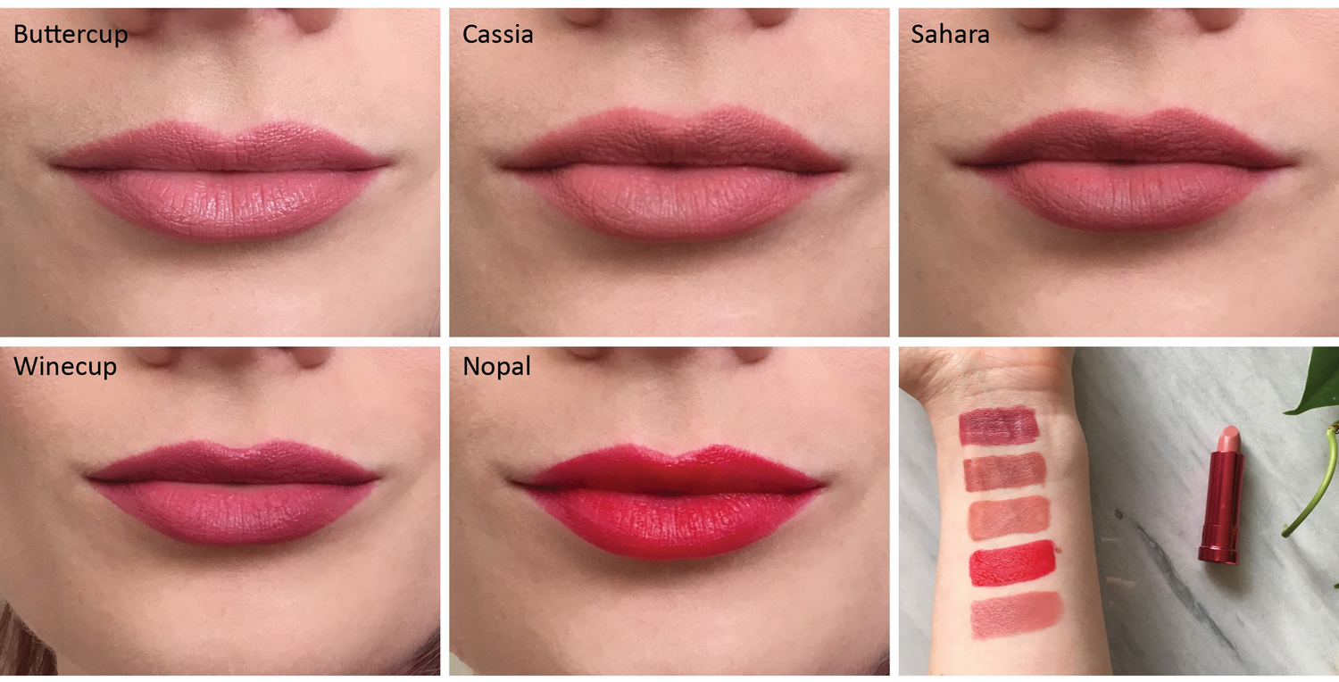 100 Percent Pure new lipstick swatches