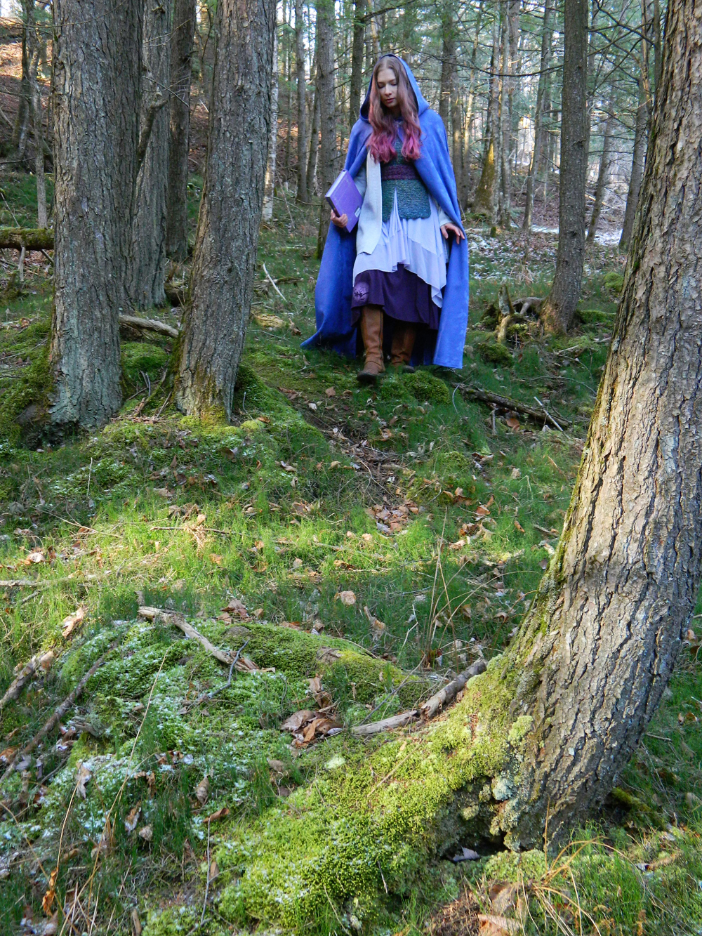 In the woods with The Faerie Handbook 1 – Copy