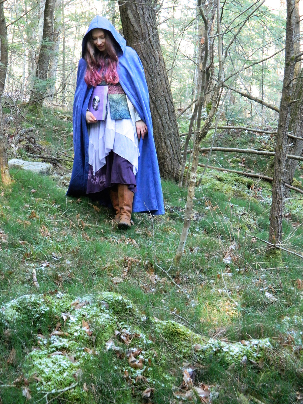 In the woods with The Faerie Handbook 2 – Copy
