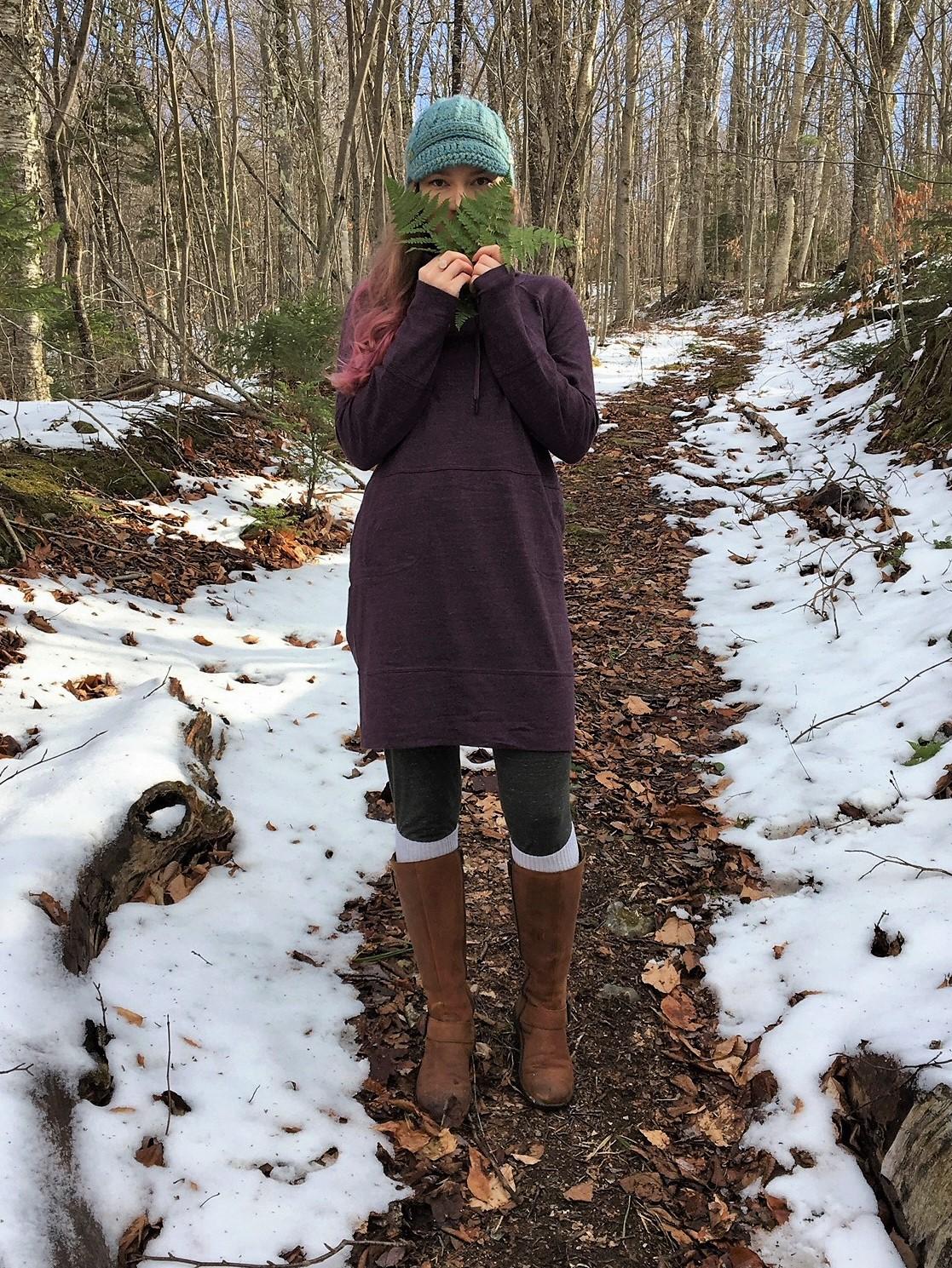 PrAna Ellis Popover Dress – Dark Plum review 4