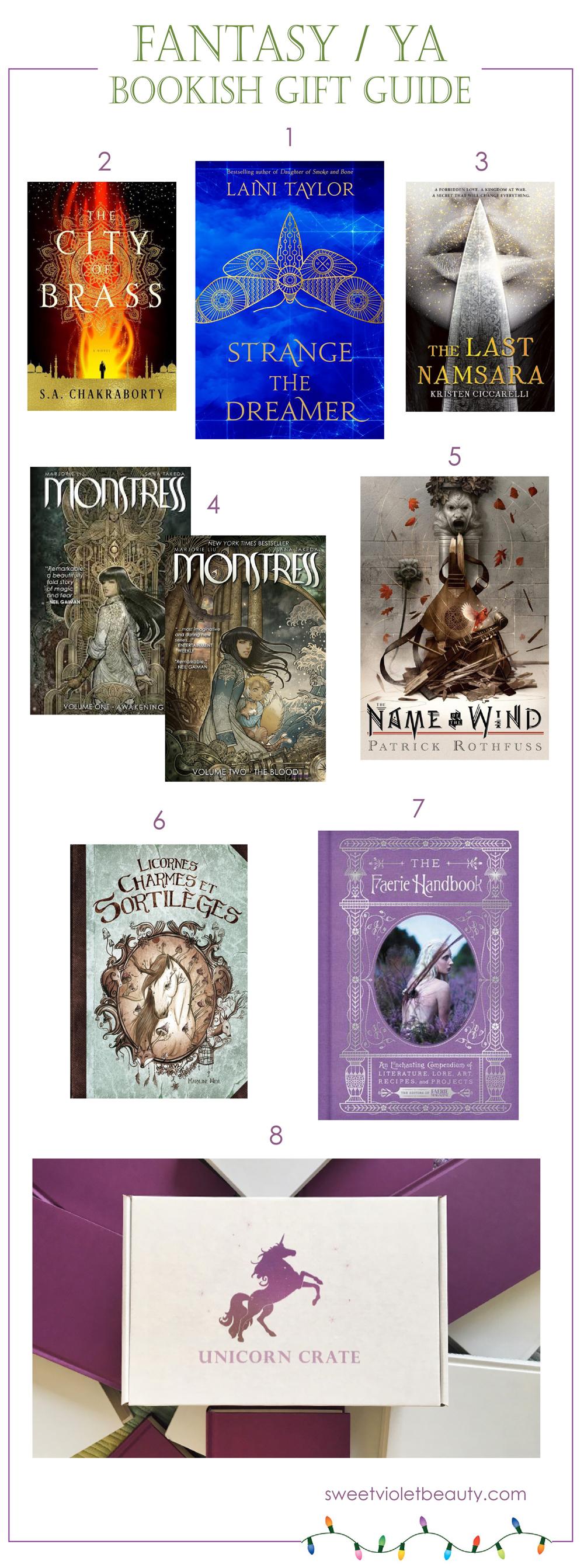 Fantasy bookish gift guide